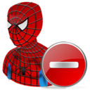 spiderman,delete,hero,cartoon,del,remove