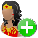 wonderwoman,add,hero,cartoon,plus