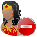 wonderwoman,delete,hero,cartoon,del,remove