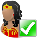 wonderwoman,ok,hero,cartoon,right,yes,correct,next,forward,arrow