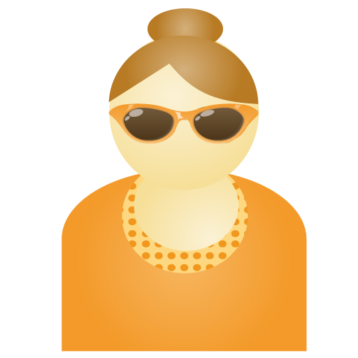 sunglass,woman,orange,account,person,people,human,user,female,member,profile