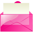 mail,pink,envelop,message,email,letter