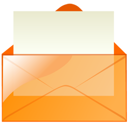 mail_orange icons, free icons in Transparent Mail, (Icon Search ...