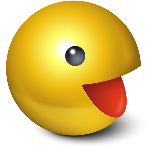 cute,ball,pacman,smiley,yellow,game,gaming,emotion,emoticon,face
