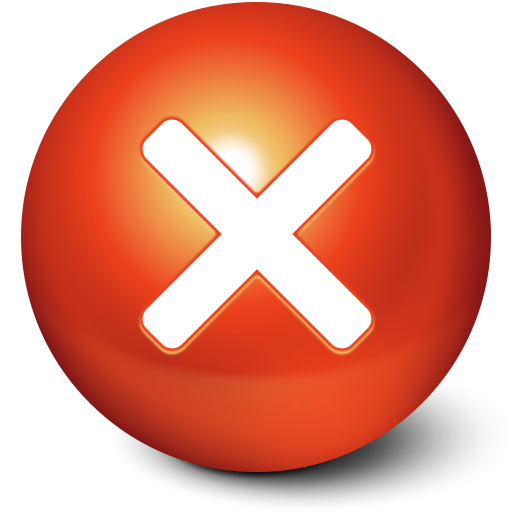 cute ball stop close no cancel  X Button Png