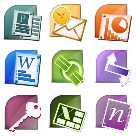 Microsoft Office Suite - 9 Free Icons, Icon Search Engine