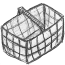 basket,empty,blank