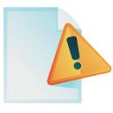 document,warning,file,paper,alert,exclamation,wrong,error