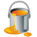 paintbucket,color,orange,paint,draw,painting