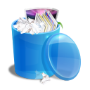blue,recycle,bin