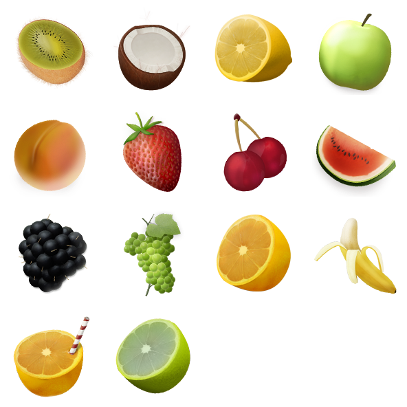 Fruit Png Icons Fruits Illustrated Icon Pack