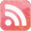 feed,pink,floral,rss,subscribe