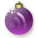 feed,christmas,purple,rss,subscribe