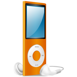 ipod,nano,orange,orange on