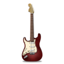 stratocaster,guitar,red