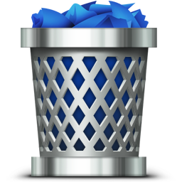 Trash Full Silver Basket With Blue Papers Icon Png Ico Or Icns Free Vector Icons