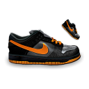 nike,dunk,dark,orange