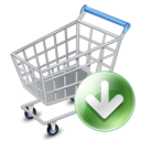 shopcartdown,arrow,down,shopping cart,webshop,descend,download,fall,decrease,descending,buy,shopping,commerce,cart,e commerce