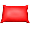 red,pillow