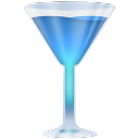 wineglass,blue