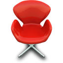 red,chair