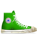 converse,green,dirty