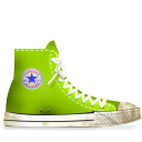 converse,lime,dirty