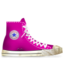 converse,pink,dirty