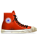 converse,red,tasi,dirty