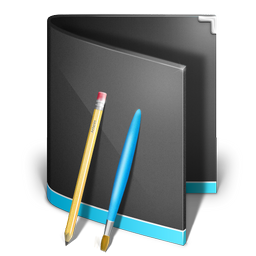 application,folder,black