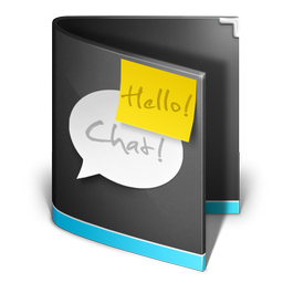 chat,folder,black,talk,comment,speak